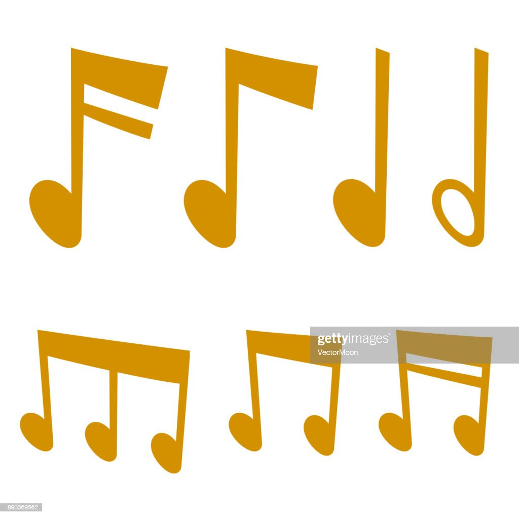 Notes music melody colorfull musician symbols sound melody text writting audio symphony vector illustration