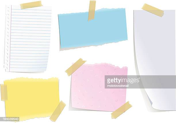 notes with masking tape