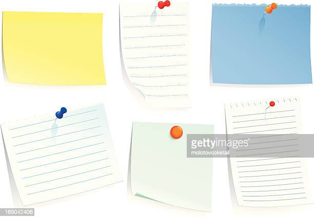 notes with pin
