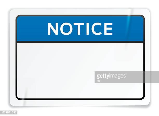 notice sign sticker - information symbol stock illustrations, clip art, cartoons, & icons