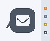 Notification Bubble & Mail - Carbon Icons