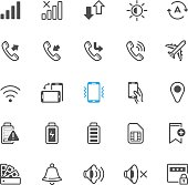 Notification icons for Mobile Phone and Application