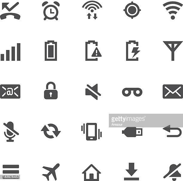 notification icons | one-touch basics - alarm clock stock illustrations