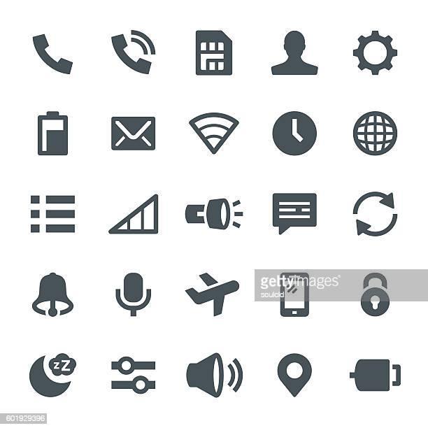 ilustraciones, imágenes clip art, dibujos animados e iconos de stock de notification icons - sistema operativo