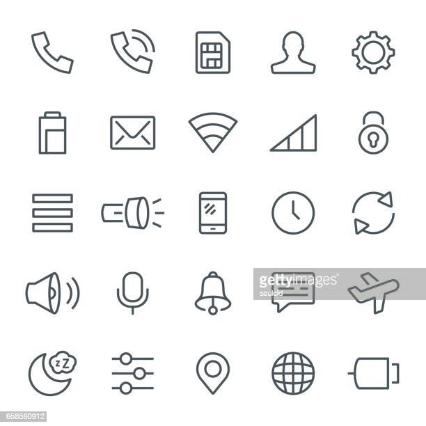 notification icons - volume unit meter stock illustrations, clip art, cartoons, & icons