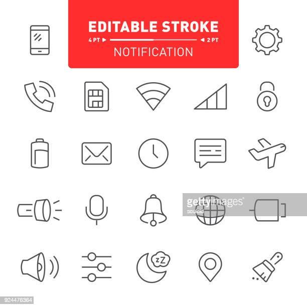 notification icons - flashlight stock illustrations