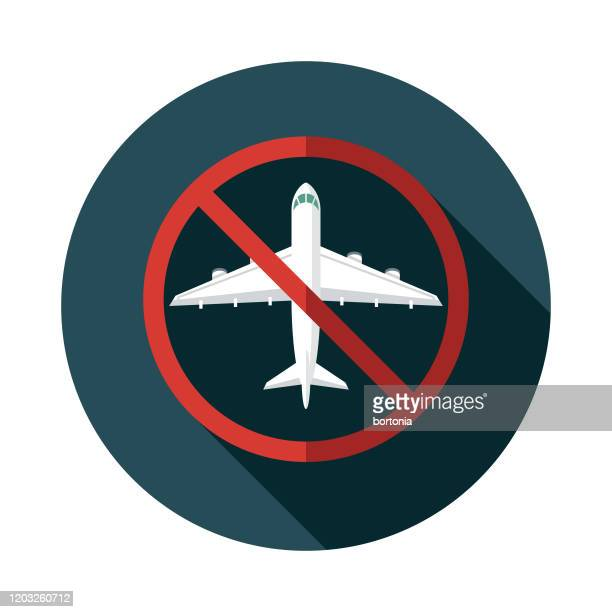 novel coronavirus covid-19 flight cancellations icon - wuhan stock illustrations