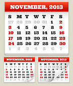 November 2013 Calendar Set