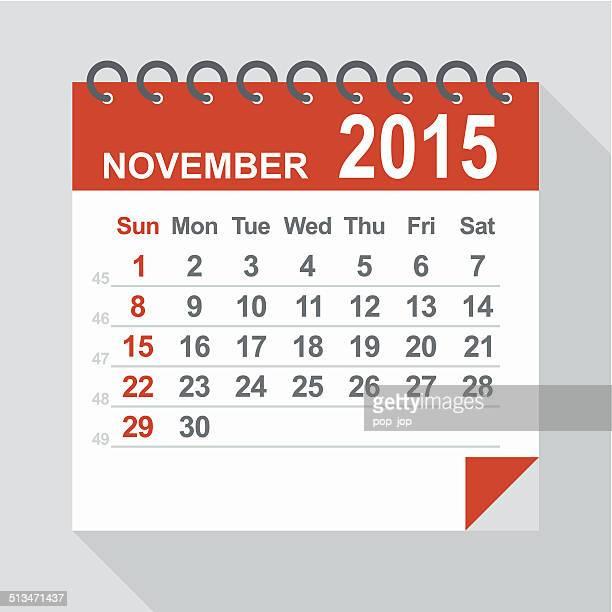 November 2015 calendar - Illustration