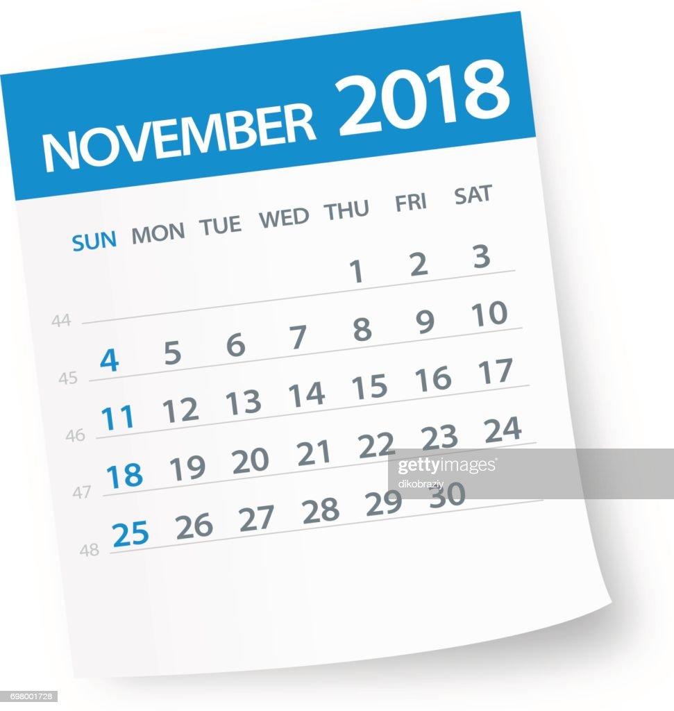 November 2018 Calendar Leaf - Illustration