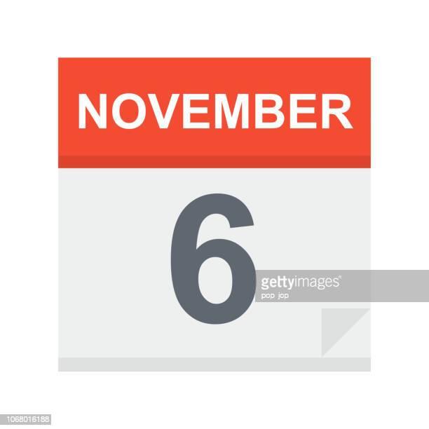 November 6-Kalender-Symbol