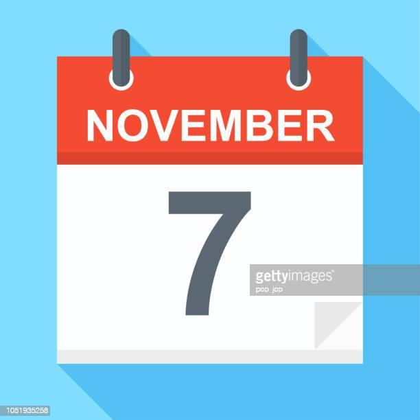 November 7 - Calendar Icon