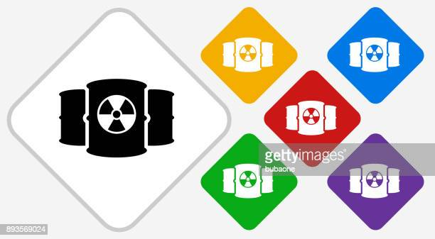 nuclear barrels color diamond vector icon - radioactive contamination stock illustrations