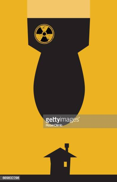 Nuclear Bomb Falling On House