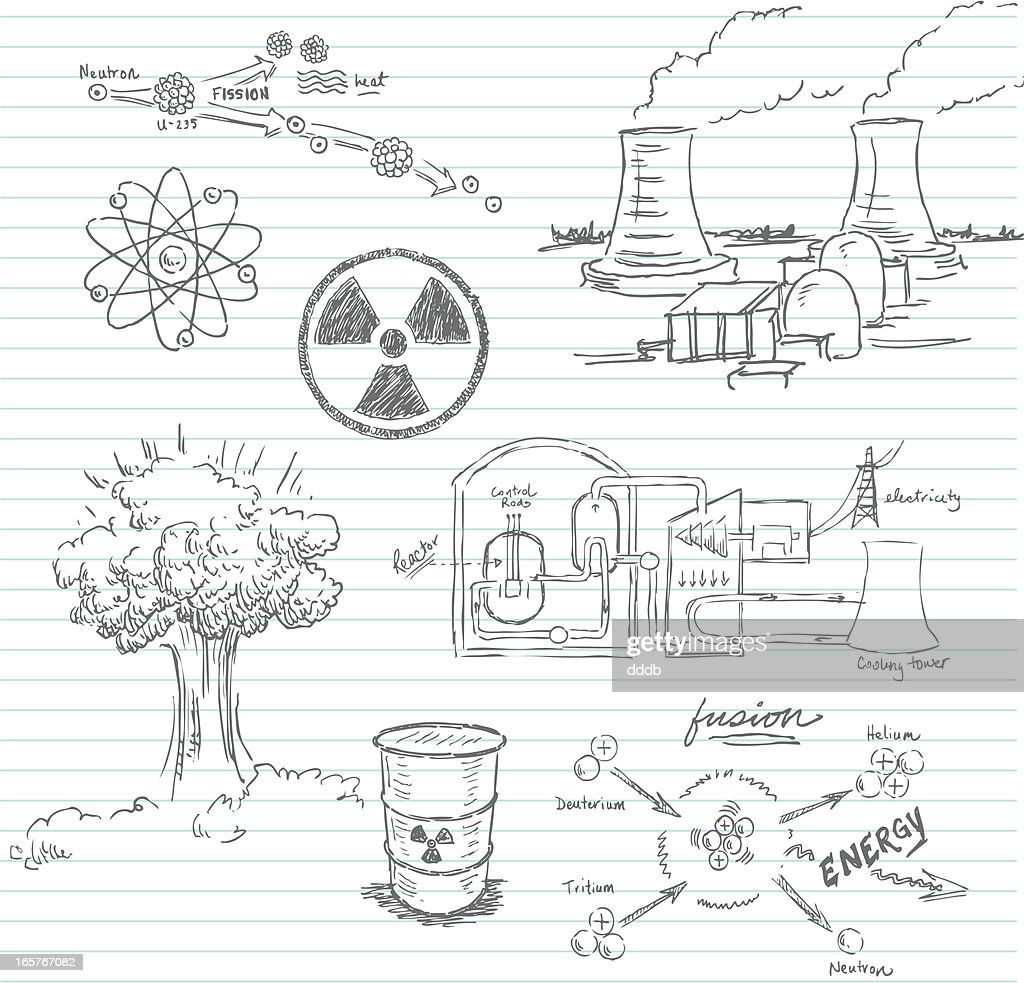 nuclear doodle high-res vector graphic