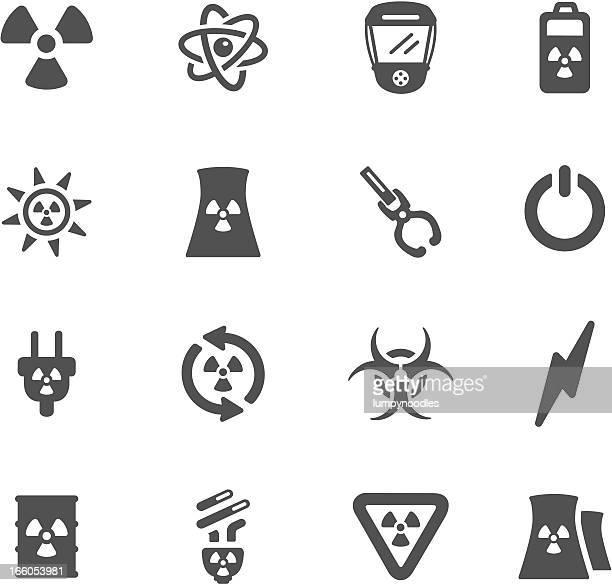 nuclear energy symbols - atom stock illustrations
