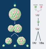 Nuclear Fission Of Uranium 235