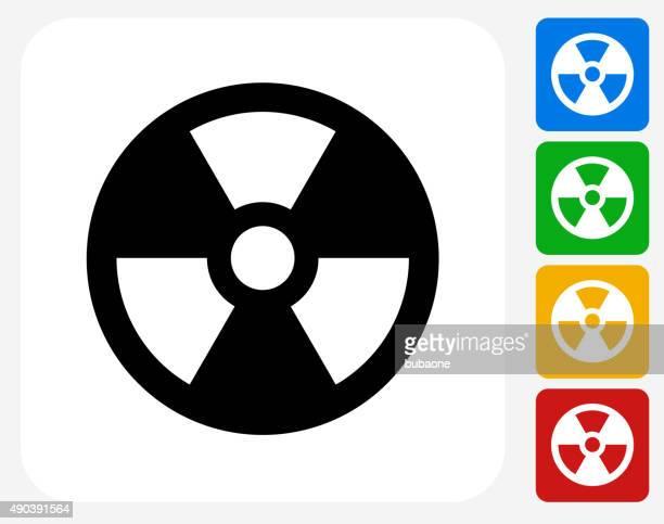 Nuclear iconos planos de diseño gráfico
