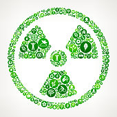 Nuclear  Nature and Environmental Conservation Icon Pattern