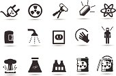 Nuclear, Radiation Icons