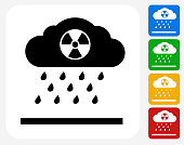 Nuclear Rain Icon Flat Graphic Design