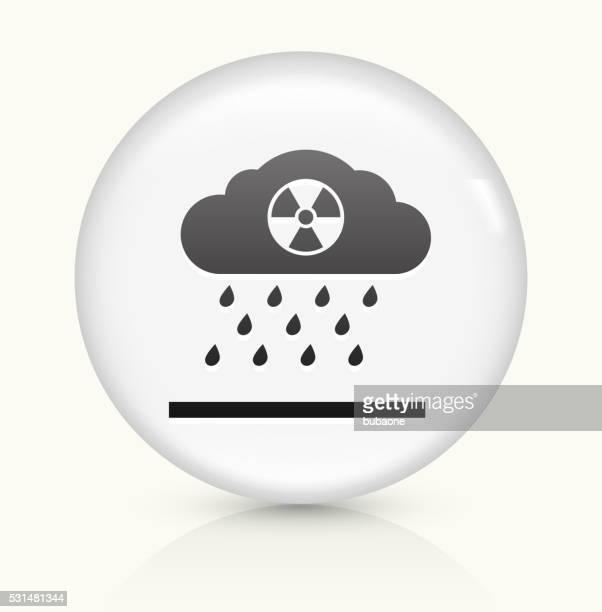nuclear rain icon on white round vector button - acid rain stock illustrations
