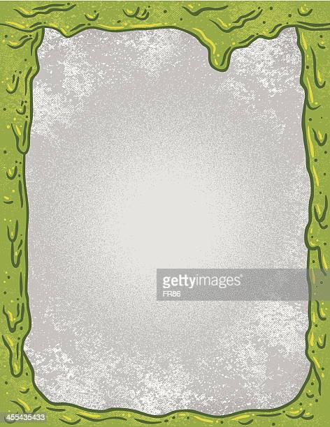 nuclear slime border - slimy stock illustrations, clip art, cartoons, & icons