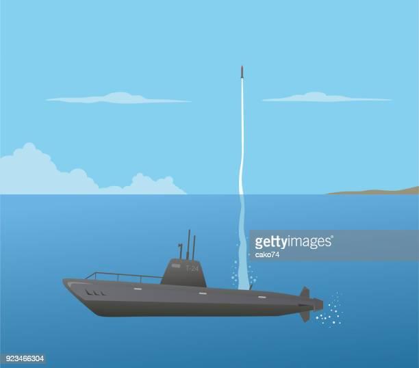nuclear submarine - us military stock illustrations, clip art, cartoons, & icons
