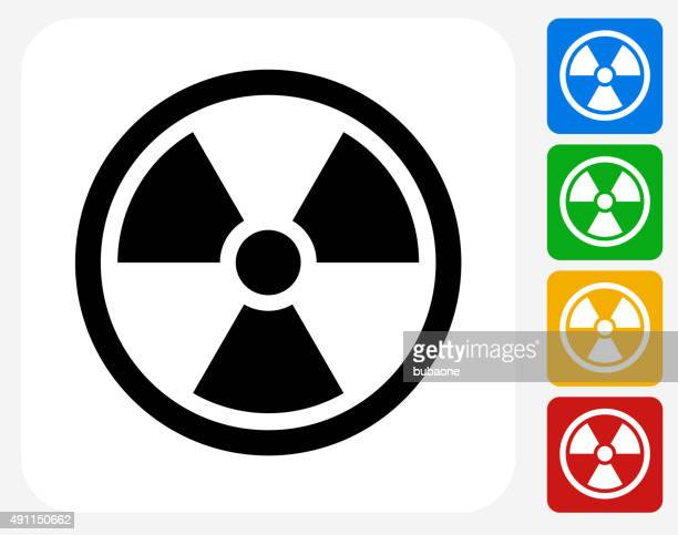 Nuclear Symbol Icon Flat Graphic Design
