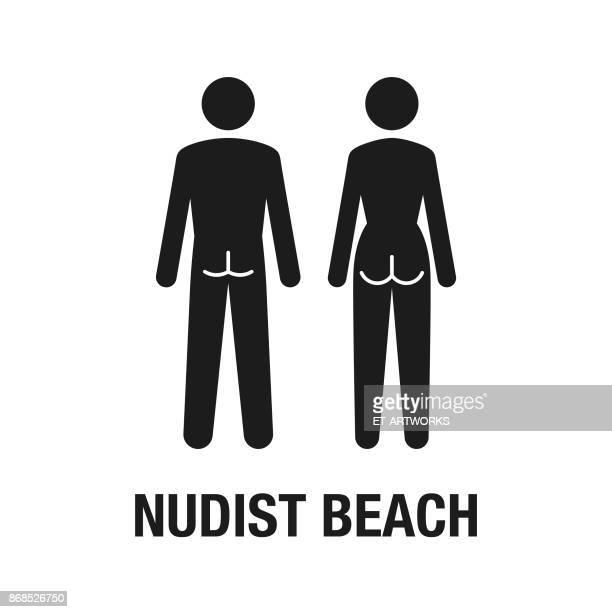Nudist beach icon