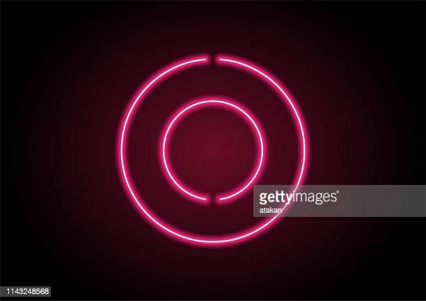 番号0黒い壁の赤いネオンライト - ゼロ点のイラスト素材/クリップアート素材/マンガ素材/アイコン素材