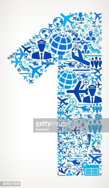 Number 1 Aviation and Air Planes Vector Graphic