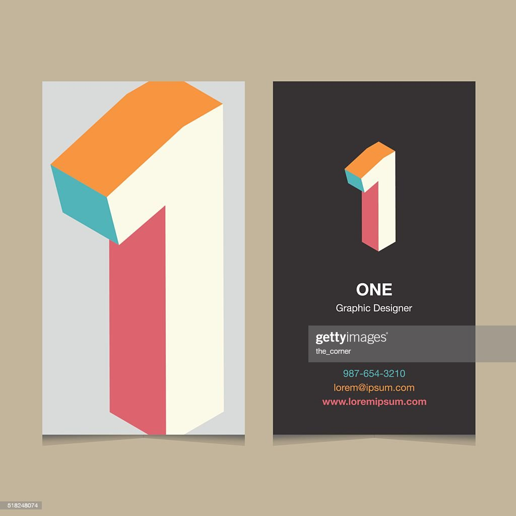 number '1'