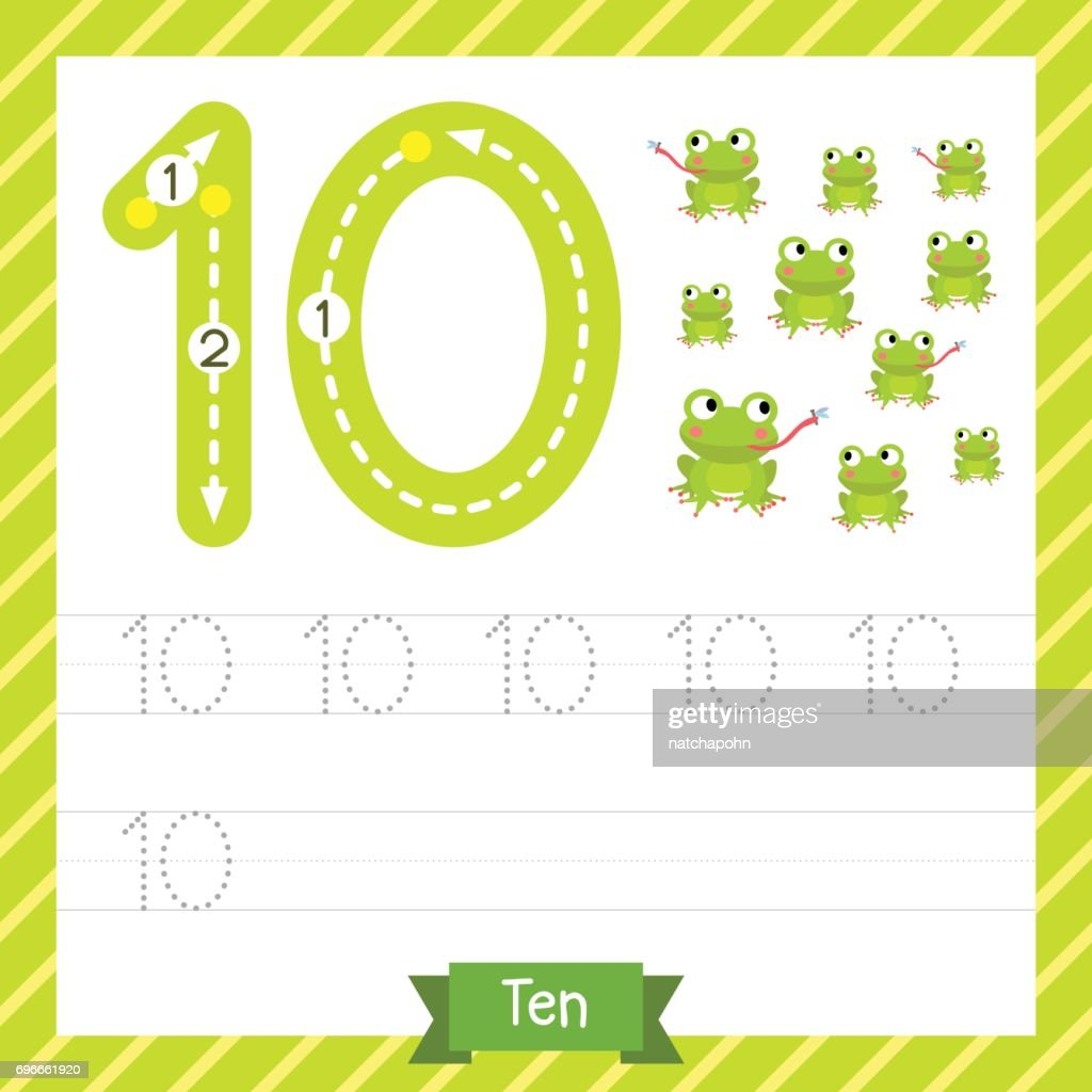 Großzügig Nummern 1 Bis 10 Arbeitsblatt Für Kindergärten ...