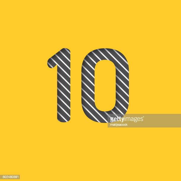 stockillustraties, clipart, cartoons en iconen met number 10 background - 10 11 jaar