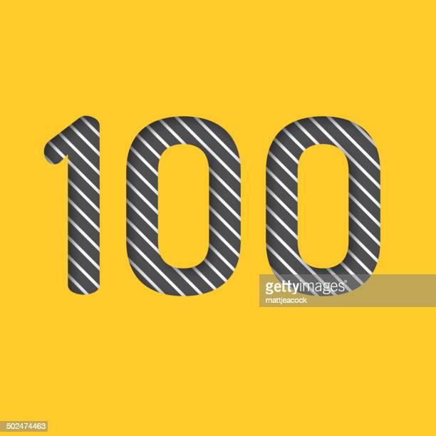 番号 100 の背景 - 数字の100点のイラスト素材/クリップアート素材/マンガ素材/アイコン素材