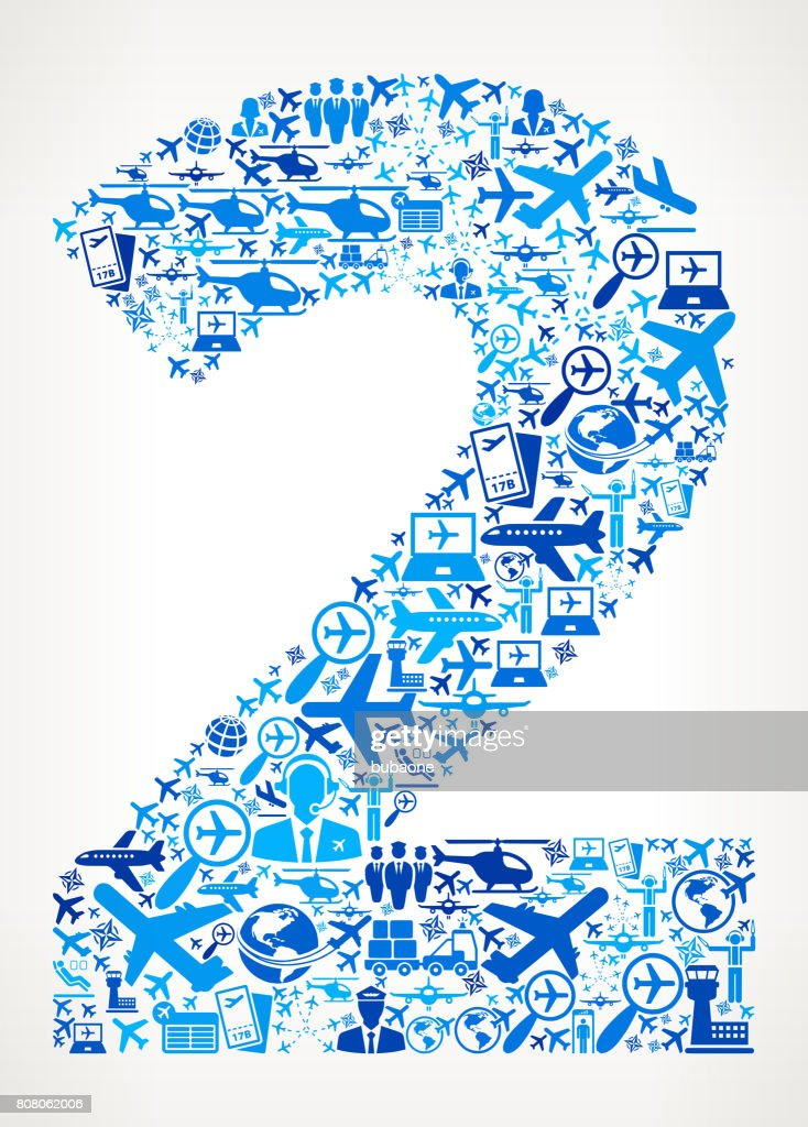 Number 2 Aviation and Air Planes Vector Graphic : stock illustration