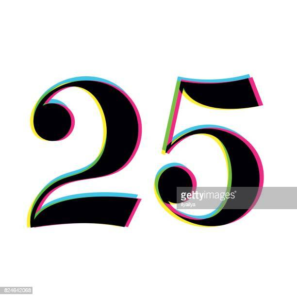 Number 25 Stock Illustrations