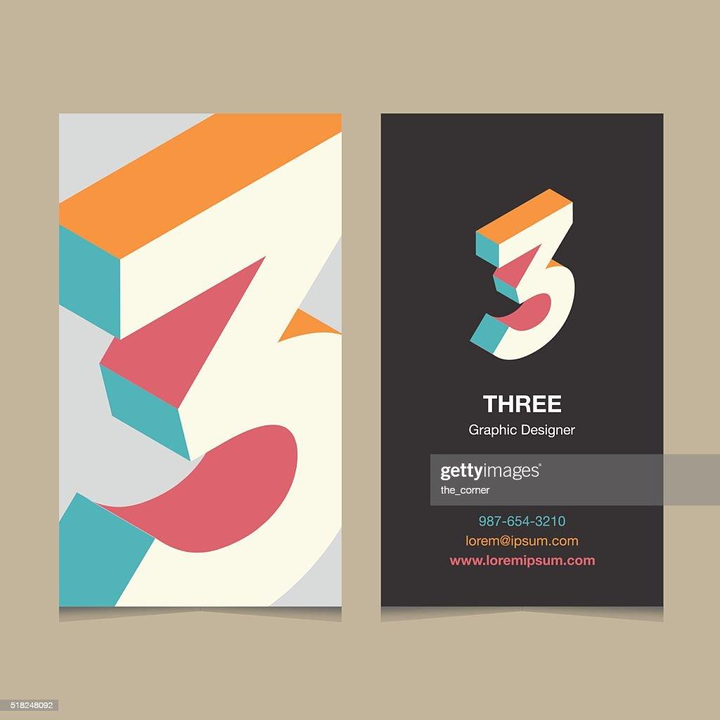 number '3'
