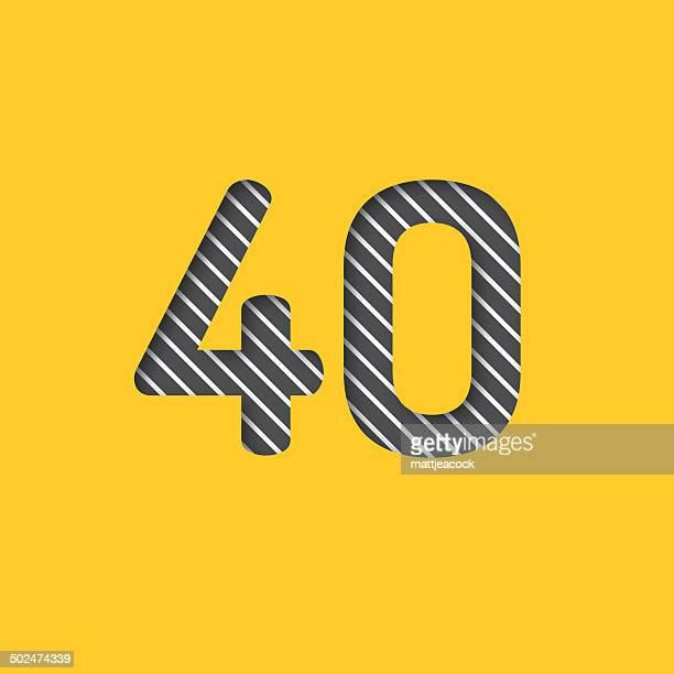 数字の 40 背景 - 数字の40点のイラスト素材/クリップアート素材/マンガ素材/アイコン素材