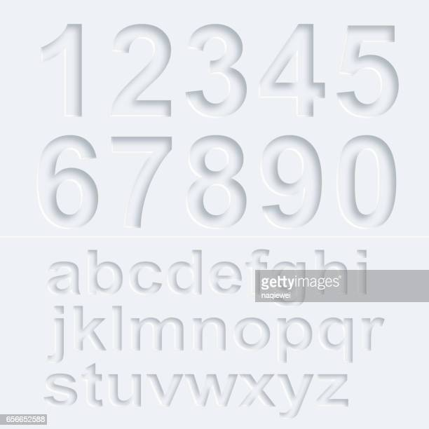 3d number and alphabet vector pattern - number stock illustrations