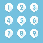 Number balloon icon vector
