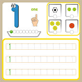 Number cards, Counting and writing numbers, Learning numbers, Numbers tracing worksheet for preschool