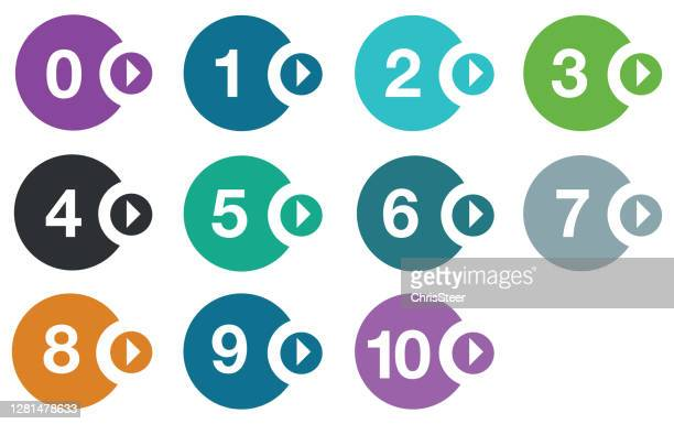 stockillustraties, clipart, cartoons en iconen met aantalpictogrammen - getal 3