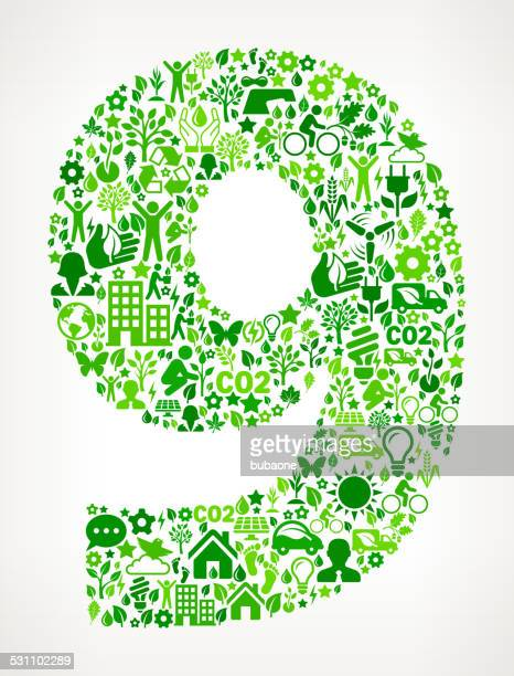 Number Nine Environmental Conservation and Nature interface icon Pattern