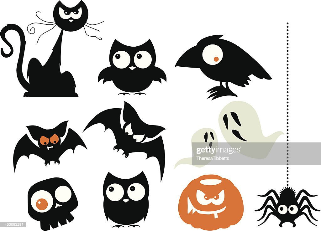 A Number Of Halloween Cartoon Characters High-Res Vector ...