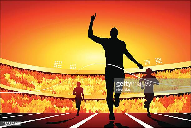 number one - sportsperson stock illustrations