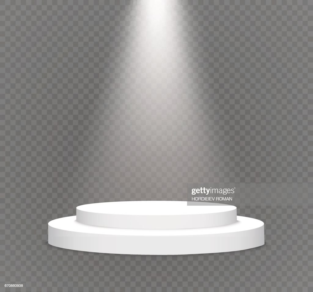 number one.podium on a transparent background.lit white scene.the podium of winners