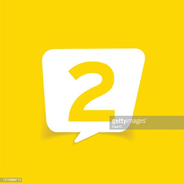 number speech bubble stock illustration - number 2 stock illustrations