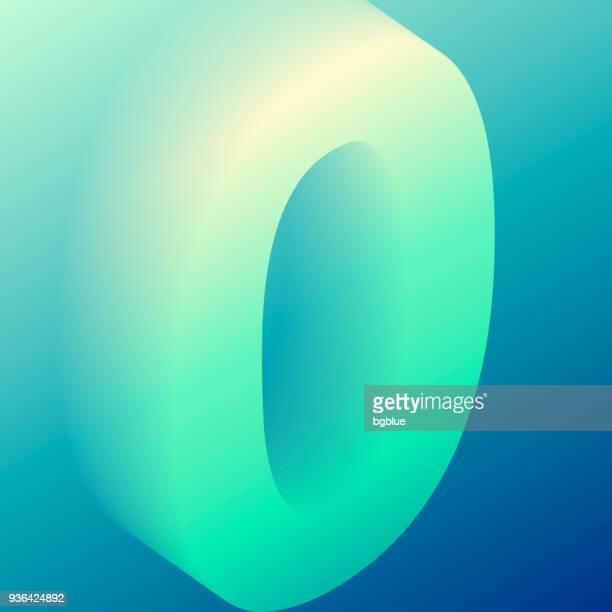 番号 0 - カラフルなトレンディなグラデーション - ゼロ点のイラスト素材/クリップアート素材/マンガ素材/アイコン素材